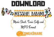 Messiah BabaMi Music sheet