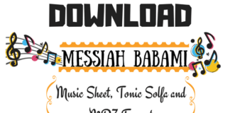 Messiah BabaMi Music sheet