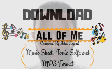 Download All Of Me Piano Music Sheet By John Legend