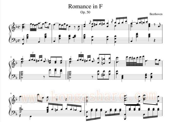 Download Romance Beethoven Piano Music Sheet_kongashare.com_mmn