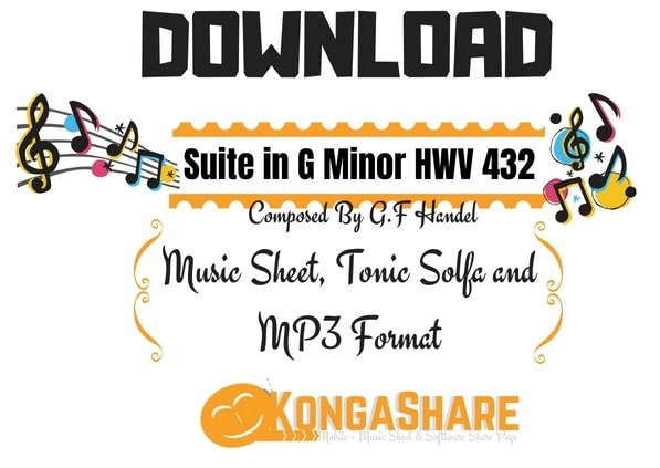 Download Suite in G Minor HWV 432 in PDF and MP3