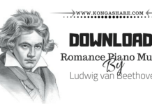 Romance Beethoven Piano Music Sheet2