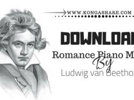 Romance Beethoven Piano Music Sheet2