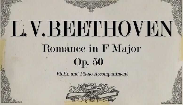 romance beethoven piano music sheet