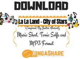 download La La Land - City of Stars sheet music - kongashare.com.
