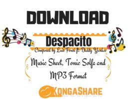 Download Despacito sheet music - Luis Fonsi ft. Daddy Yankee kongashare.com..-min