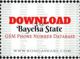 Download Free Bayelsa State GSM Phone Number Database kongashare.com..
