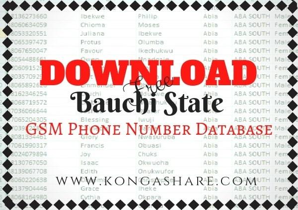 Download Free Bauchi State GSM Phone Number Database