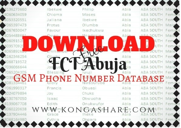 Download Free FCT Abuja GSM Phone Number Database For Your Business