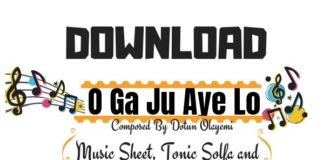 Download O Ga Ju Aye Lo Sheet Music By Dotun Olayemi PDF