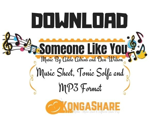 Download Someone Like You Piano Sheet Music In PDF