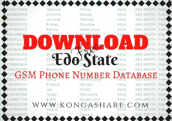 download edo state gsm phone number database kongashare.com...-min