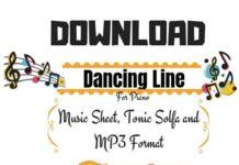 Download Free Dancing Line Sheet Music for Piano
