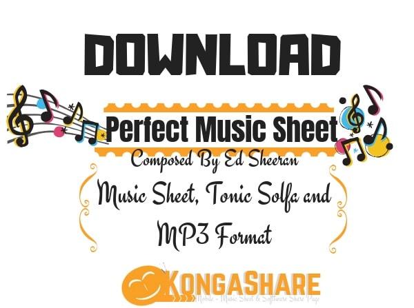 Download Perfect Music Sheet by Ed Sheeran - kongashare.com_m