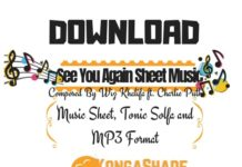 Download See You Again Sheet Music