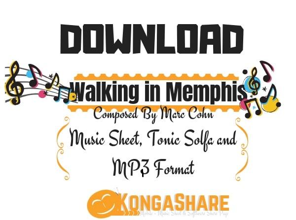 Download Walking in Memphis Sheet Music by Marc Cohn kongashare-min