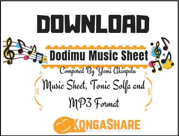 Download Free Dodimu Yoruba Music Sheet by Yemi Akinpelu in PDF_ kongashare.com..m.jpg