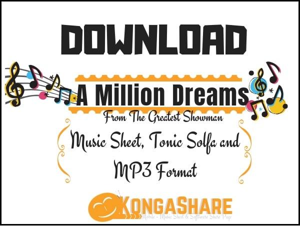 A Million Dreams piano sheet music