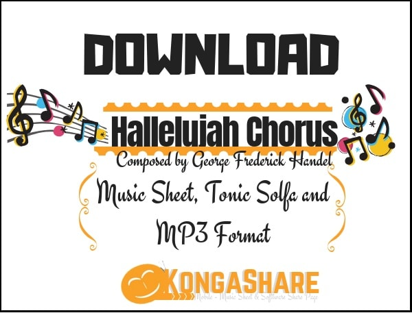 Download Hallelujah Chorus sheet music by G.F Handel in pdf and mp3_ kongashare.com_m-min