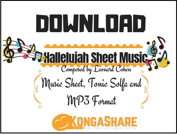 Download Hallelujah sheet music by Leonard Cohen in PDF and MP3_ kongashare.com_m-min