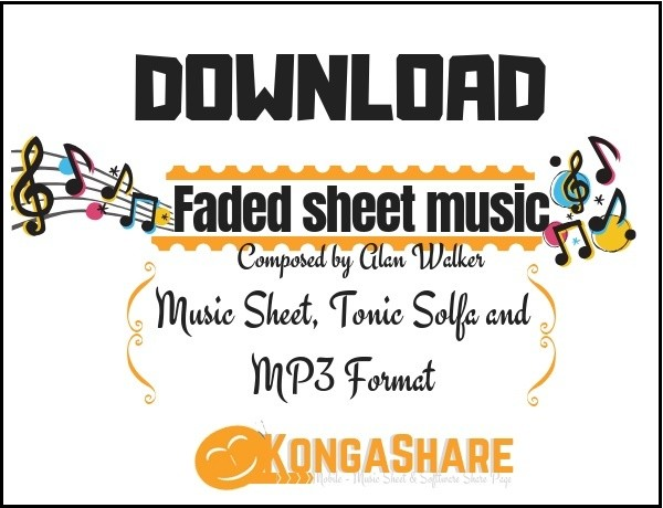 Faded sheet music