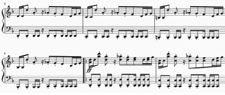 Megalovania piano sheet music