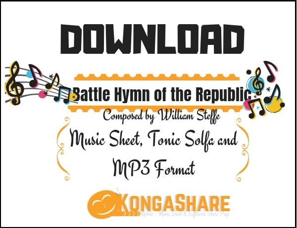 Download Battle Hymn of the Republic sheet music by William Steffe in PDF and MP3_ kongashare.com_m
