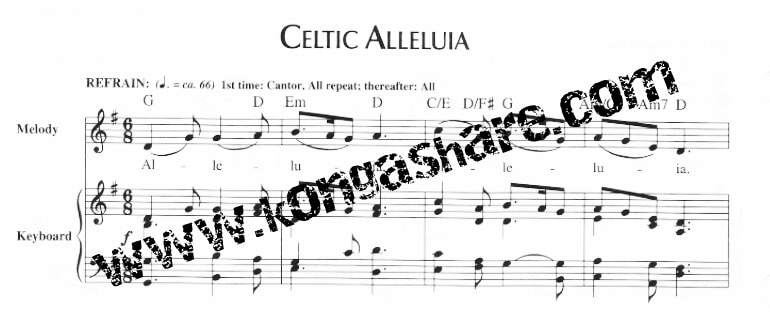 Download Celtic Alleluia sheet music (Score, Lyrics) in PDF