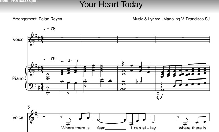 Your Heart Today sheet music