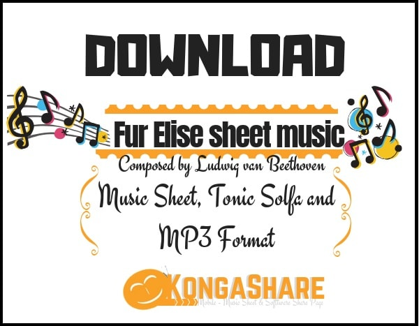 Fur Elise sheet music - Ludwig van Beethoven music score