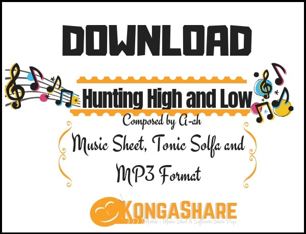 Hunting High and Low sheet music (a-ha music score) in PDF