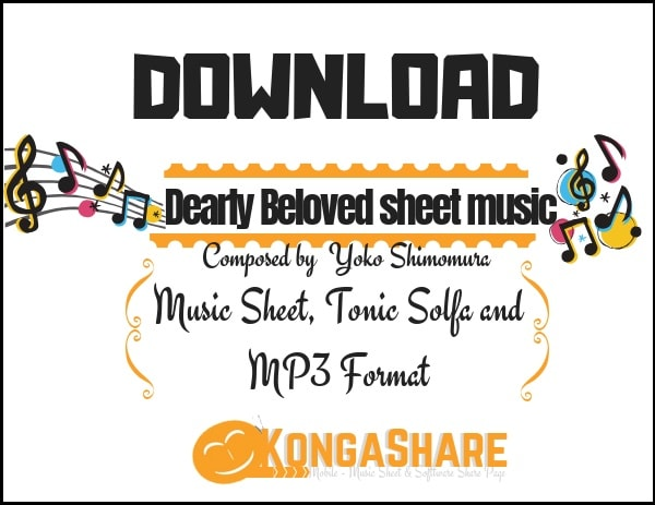 Dearly beloved sheet music (Piano Collections Kingdom Heart) in PDF and MP3