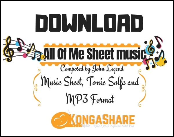 All Of Me piano sheet music (John Legend music score) in PDF