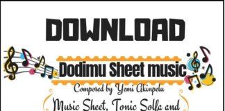Dodimu music sheet (Yemi Akinpelu music score) in PDF and MP3