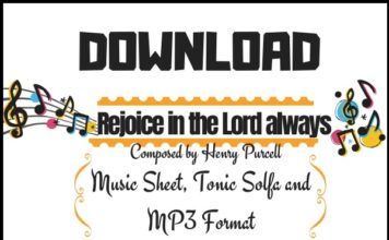 Download Rejoice in the lord always sheet music by henry purcell in Pdf and MP3_kongashare.com_mm