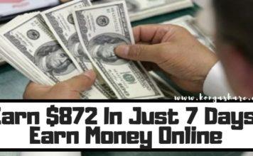 Earn $872 In Just 7 Days! Earn Money Online_kongashare.com_mn-min