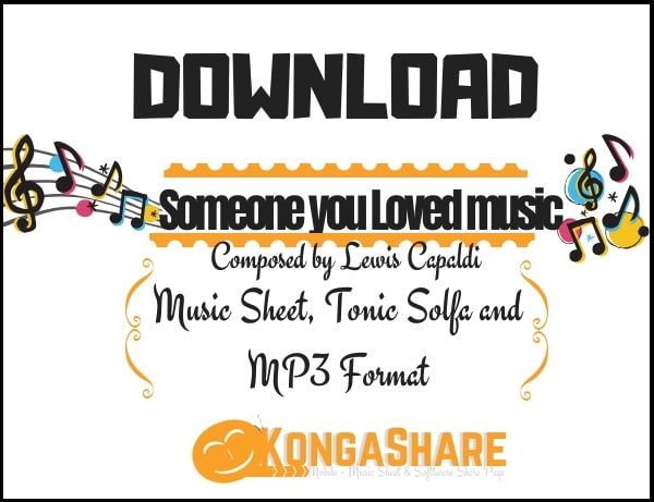 Someone you loved sheet music (Lewis Capaldi music score) in PDF and MP3
