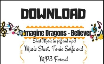 Download Imagine Dragons - Believer music sheet in pdf in PDF and MP3_kongashare.com_m