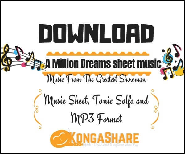 A Million Dreams sheet music (From The Greatest Showman) in PDF and MP3