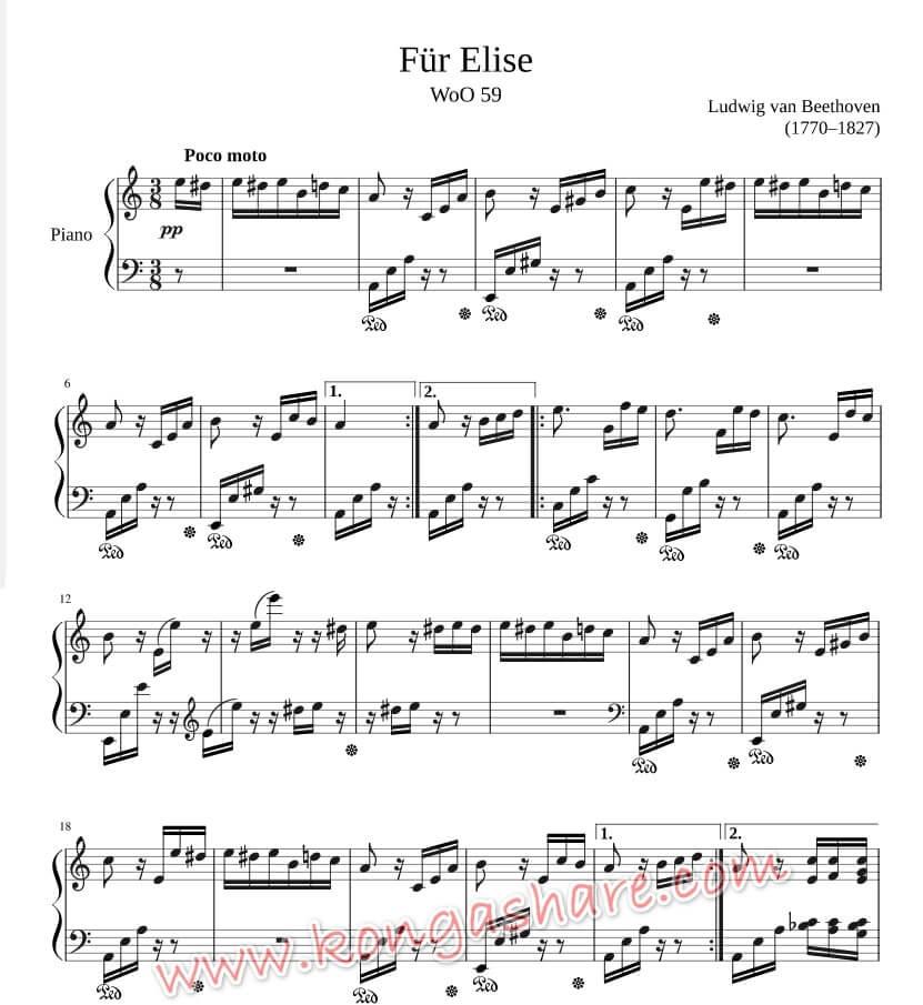 download free Für Elise music sheet