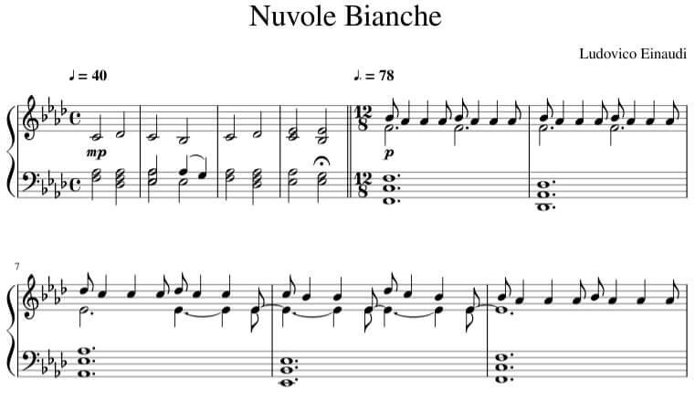 Nuvole Bianche sheet music - Ludovico Einaudi Biography
