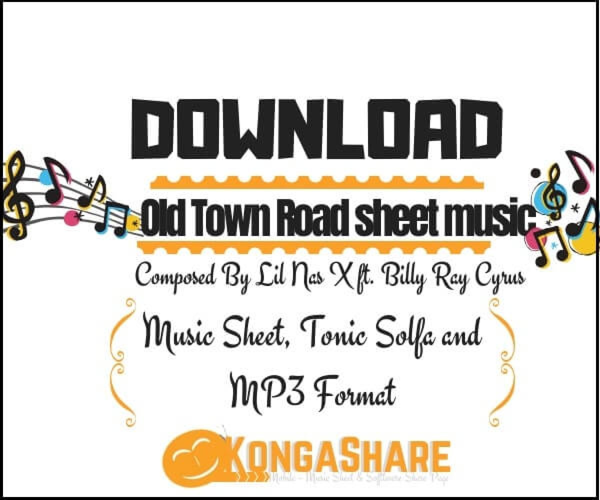 Old Town Road Roblox Piano Sheet Easy Old Town Road Piano Sheet Music By Lil Nas X Ft Billy