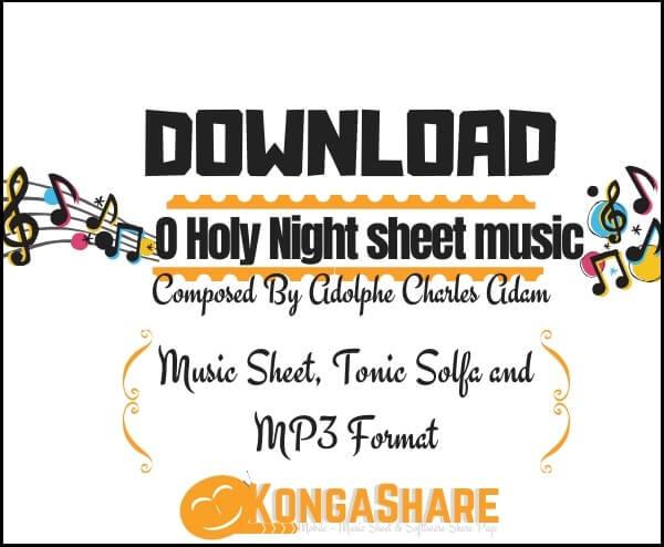 Download O Holy Night sheet music by Adolphe Charles Adam_kongashare.com_mmm-min-1