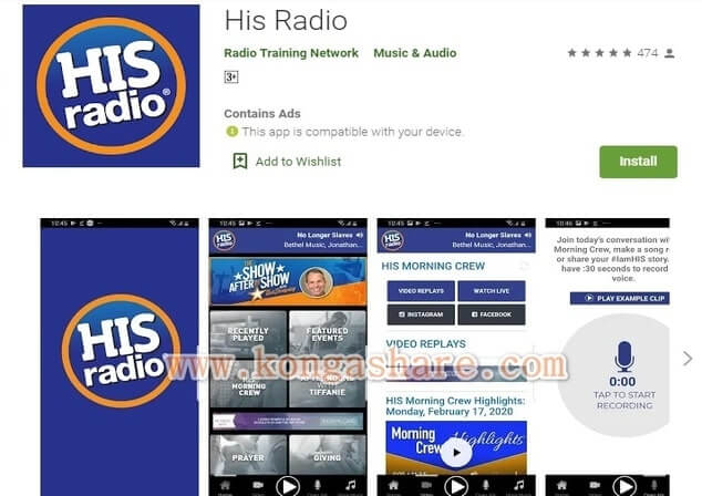Free Christian Music Apps on Google Play in 2020 - His Radio app Picture_kongashare.com_mmn