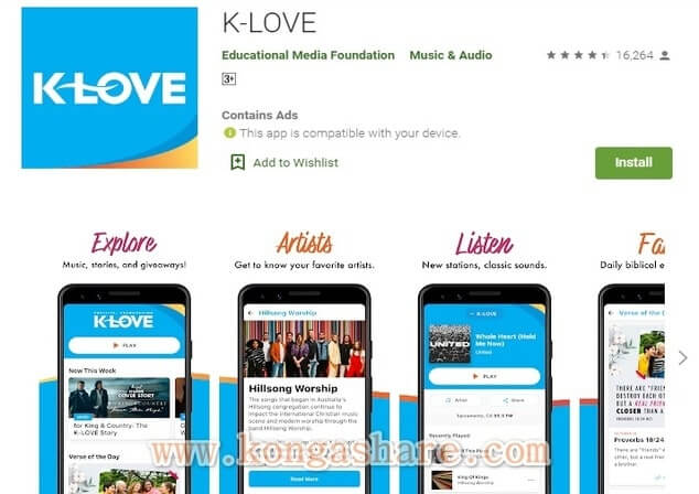 Free Christian Music Apps on Google Play in 2020 - K-LOVE App Picture_kongashare.com_mmn