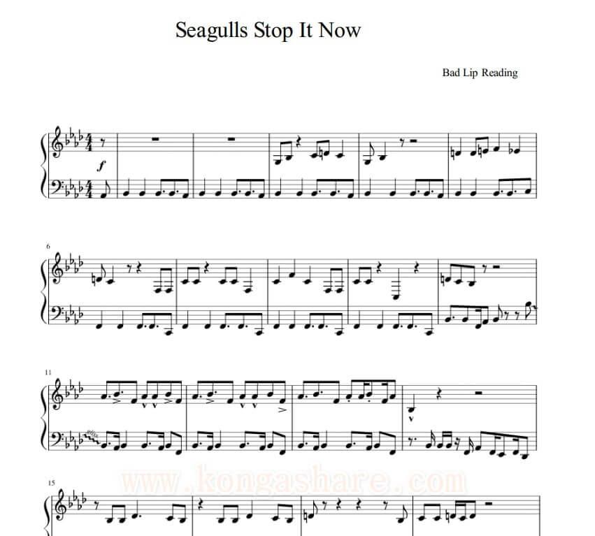 seagulls stop it now sheet music_kongashare.com_music score1-m