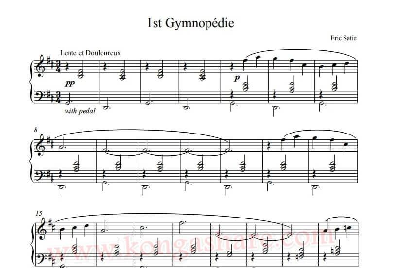 Gymnopedie sheet music - music score