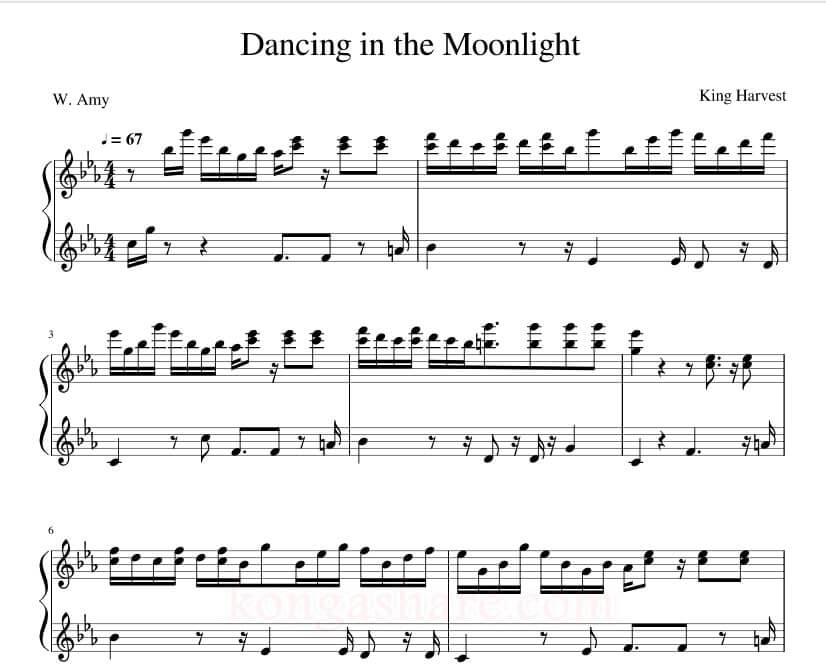 Dancing in the Moonlight sheet music_kongashare.com_nm