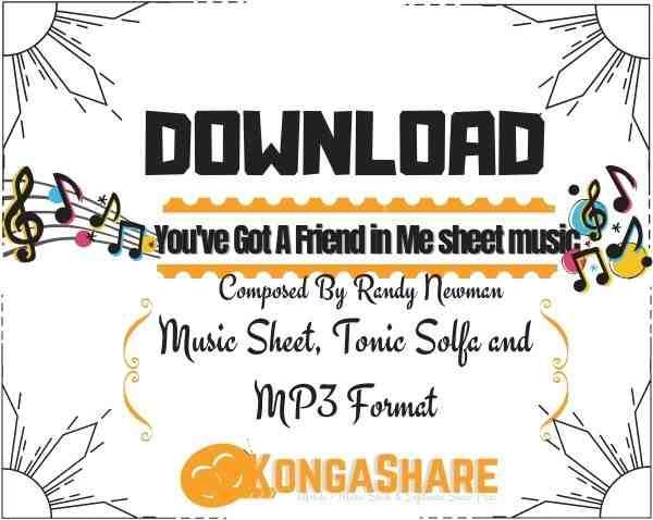 """You've Got A Friend in Me sheet music """"Randy Newman"""" & Lyrics"""