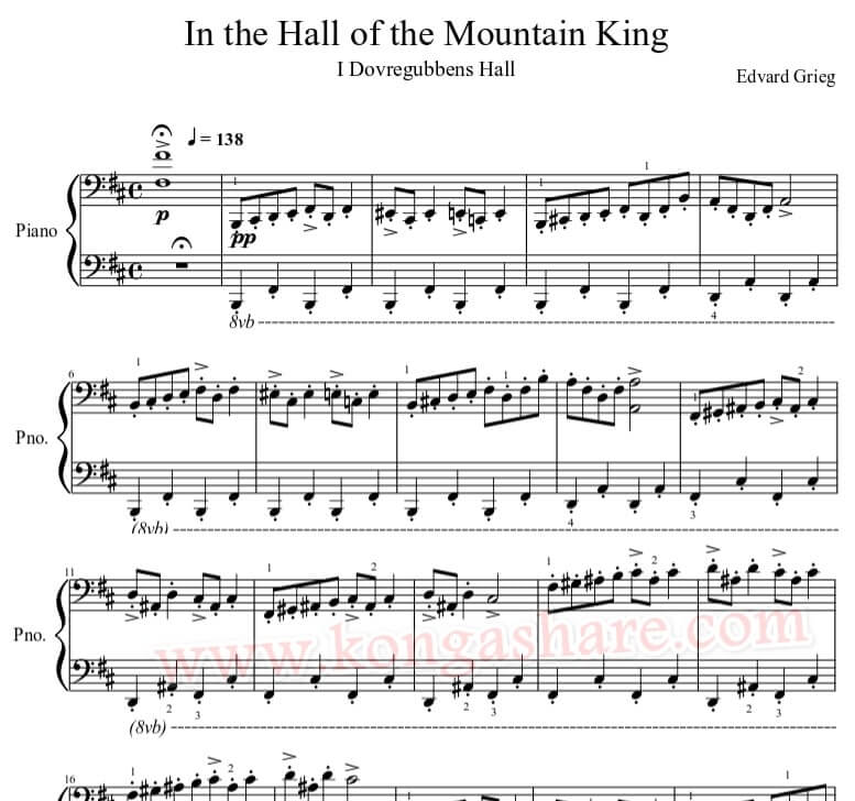 in the hall of the mountain king sheet music_kongashare.com_mt